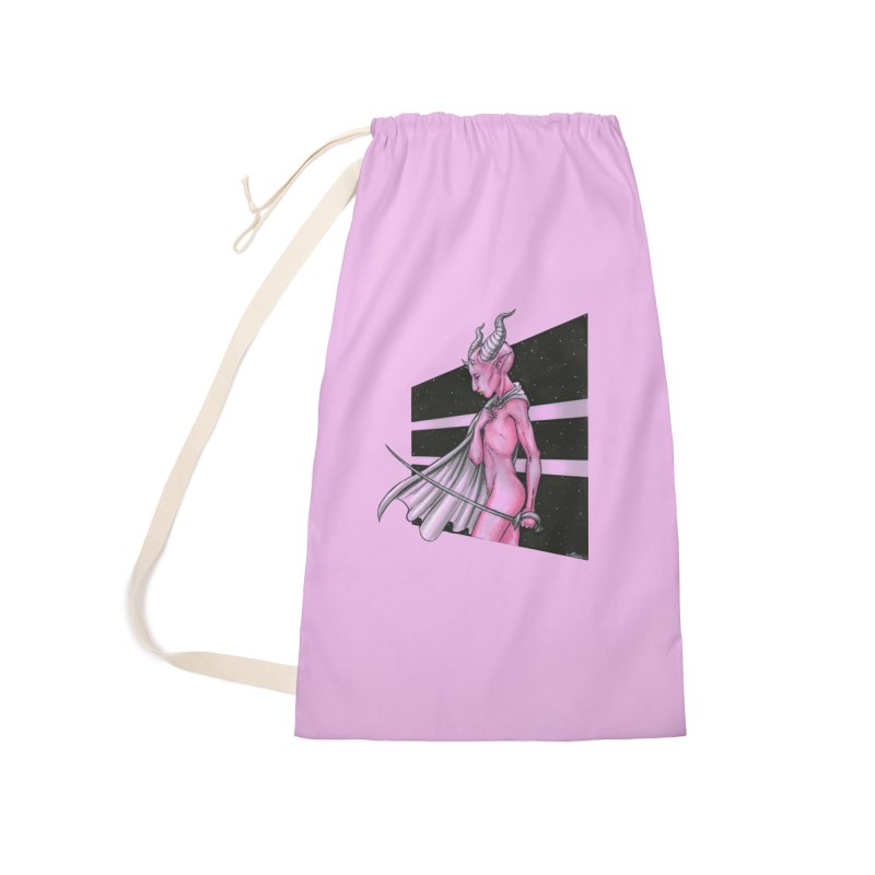 Pink Alien 1 Accessories Bag by Natalie McKean