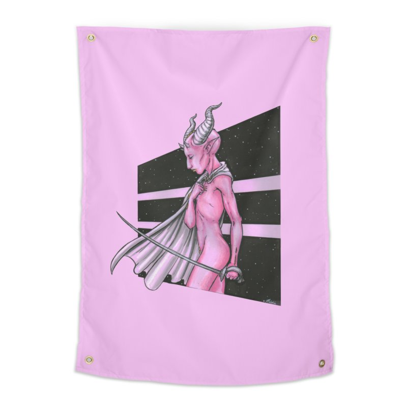 Pink Alien 1 Home Tapestry by Natalie McKean
