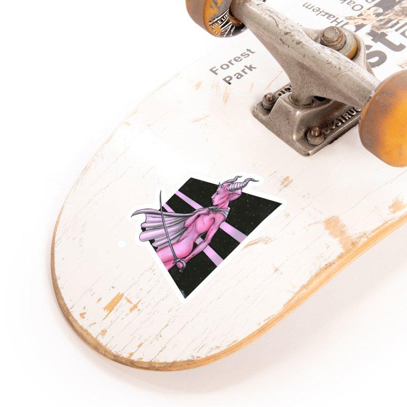 Pink Alien 1 Accessories Sticker by Natalie McKean