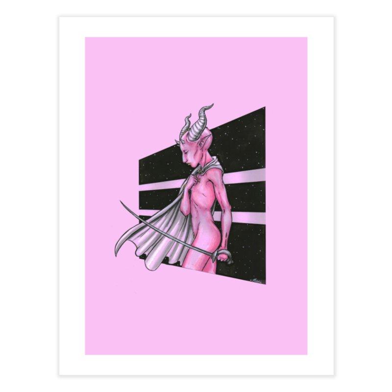 Pink Alien 1 Home Fine Art Print by Natalie McKean