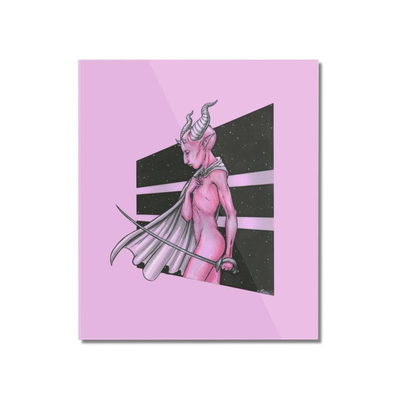 Pink Alien 1 Home Mounted Acrylic Print by Natalie McKean
