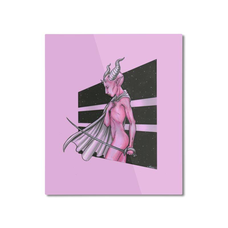 Pink Alien 1 Home Mounted Aluminum Print by Natalie McKean