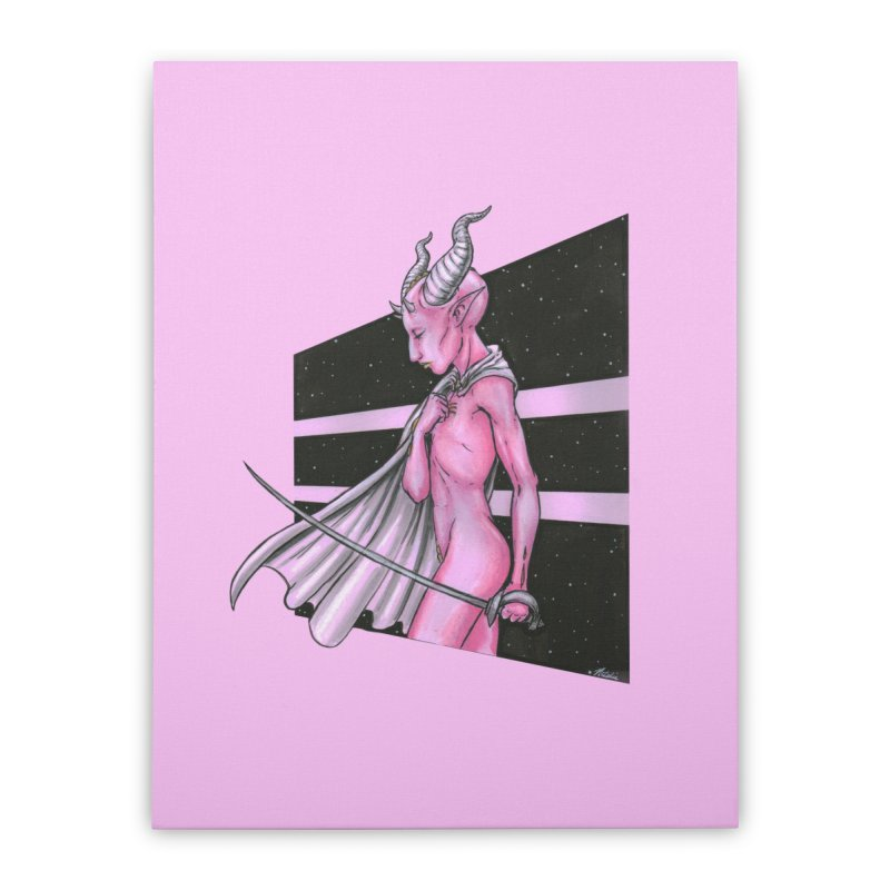Pink Alien 1 Home Stretched Canvas by Natalie McKean
