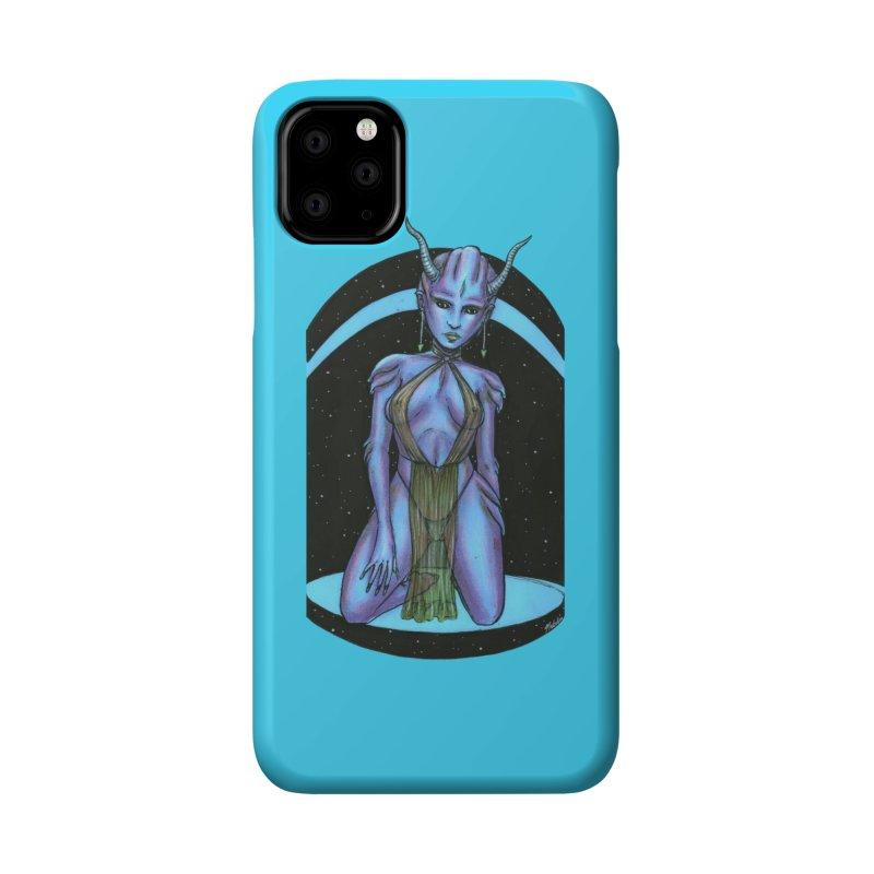 Purple Alien 1 Accessories Phone Case by Natalie McKean