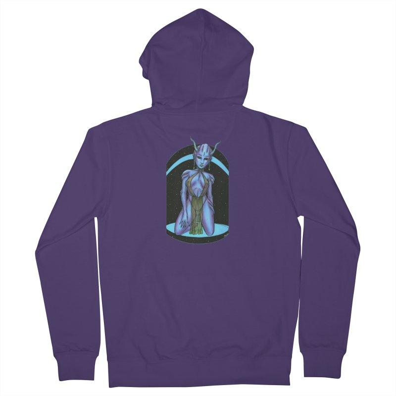 Purple Alien 1 Women's French Terry Zip-Up Hoody by Natalie McKean