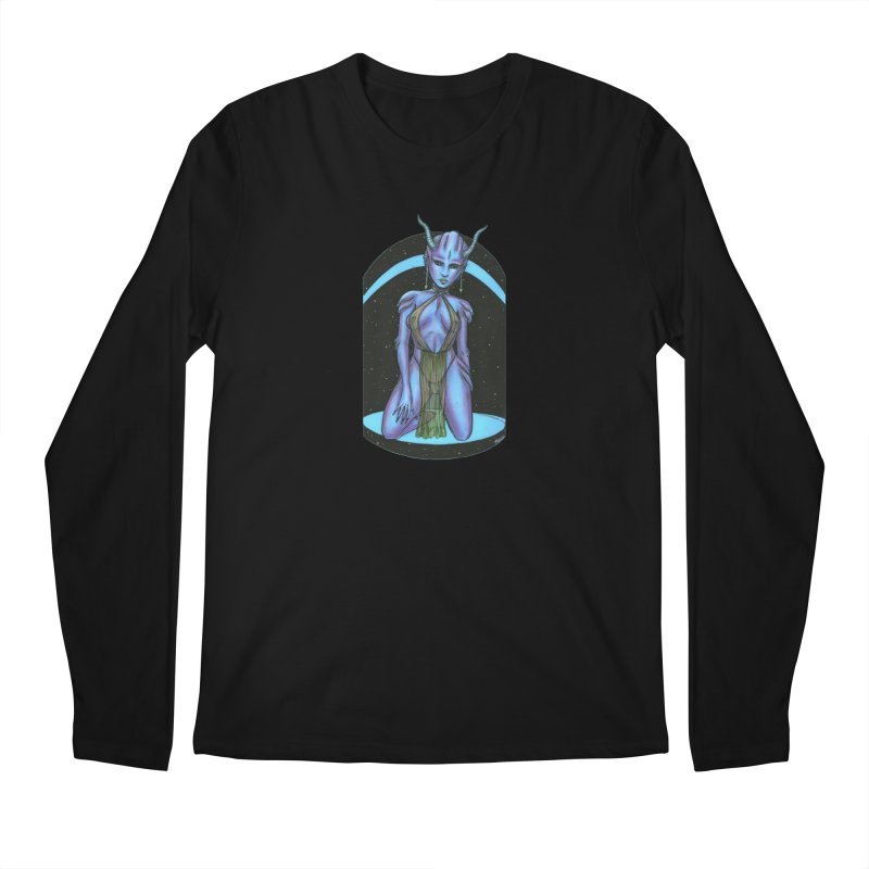 Purple Alien 1 Men's Regular Longsleeve T-Shirt by Natalie McKean