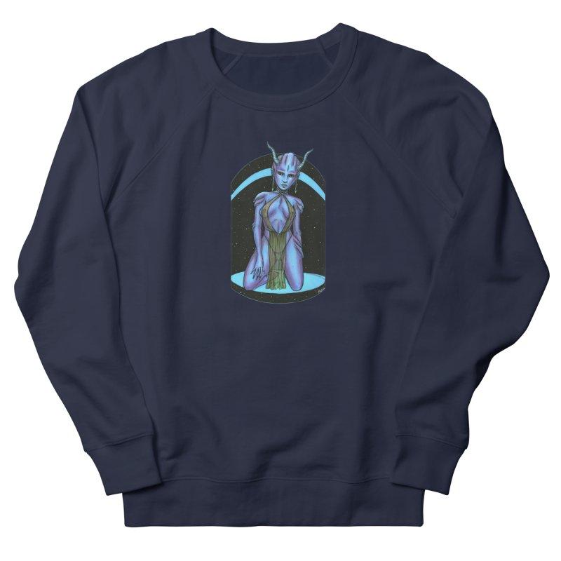 Purple Alien 1 Women's French Terry Sweatshirt by Natalie McKean