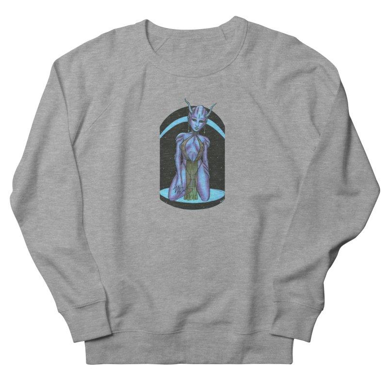 Purple Alien 1 Men's French Terry Sweatshirt by Natalie McKean