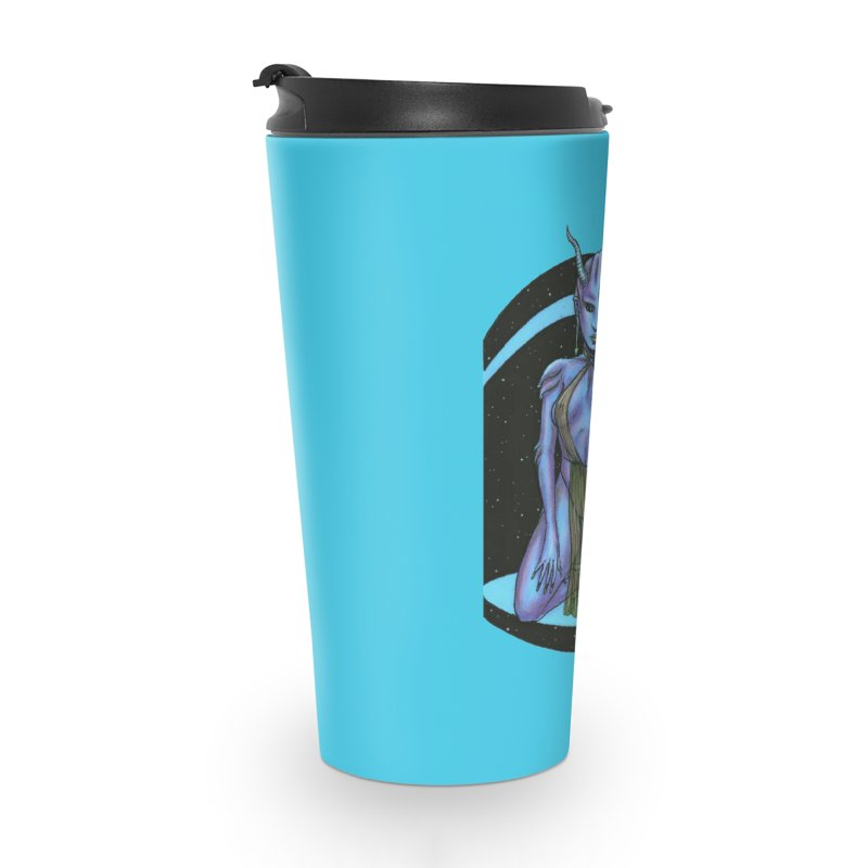 Purple Alien 1 Accessories Travel Mug by Natalie McKean