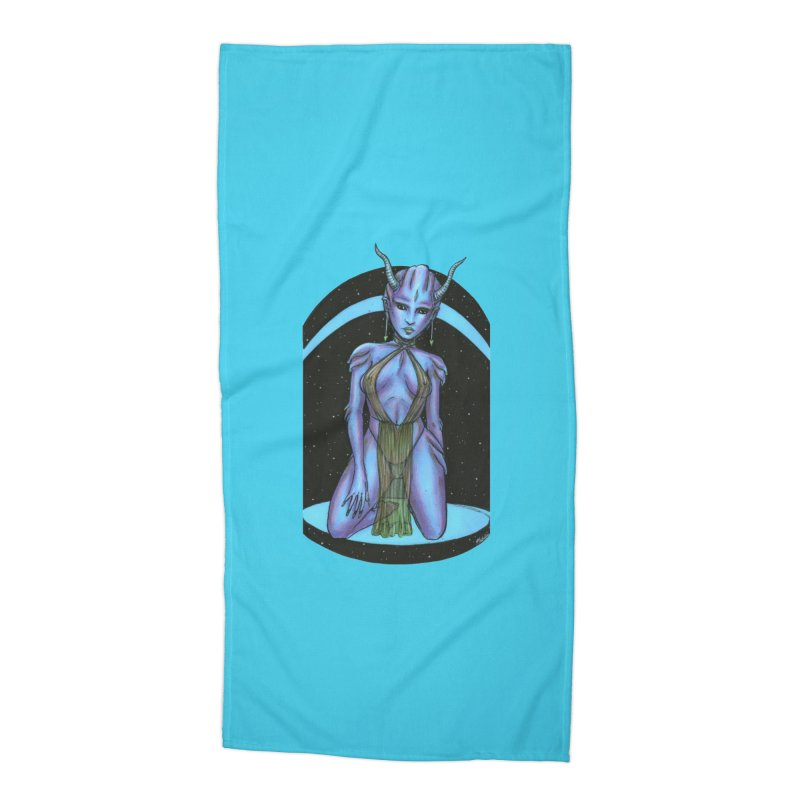 Purple Alien 1 Accessories Beach Towel by Natalie McKean