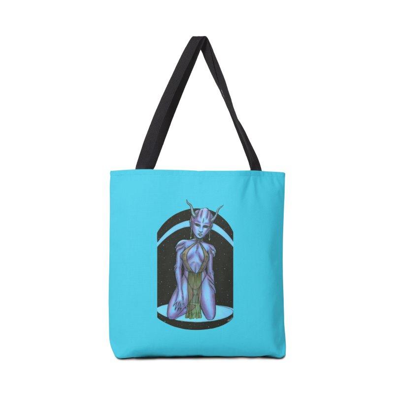 Purple Alien 1 Accessories Bag by Natalie McKean