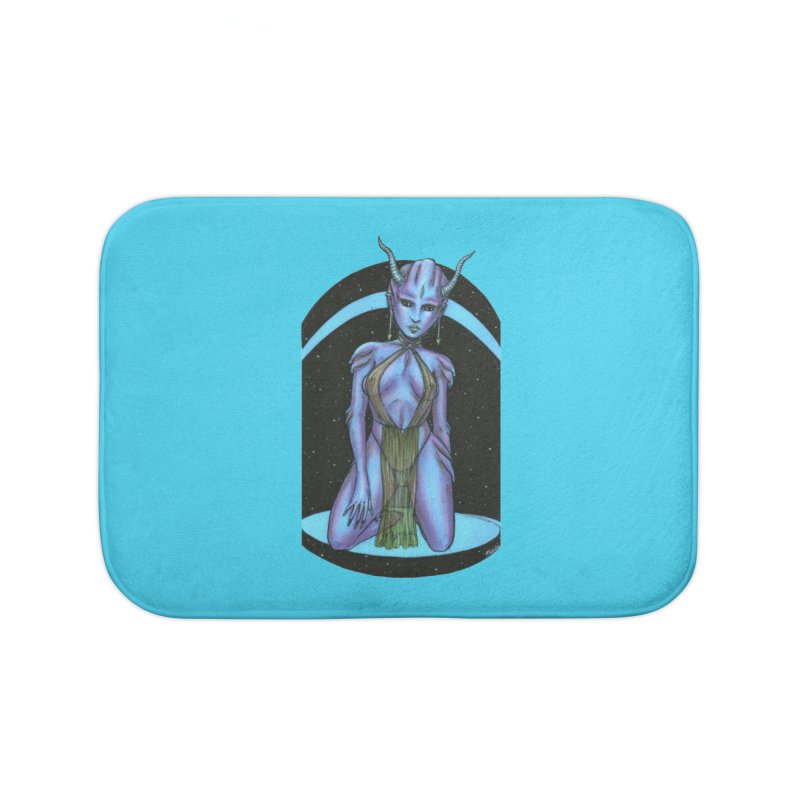 Purple Alien 1 Home Bath Mat by Natalie McKean