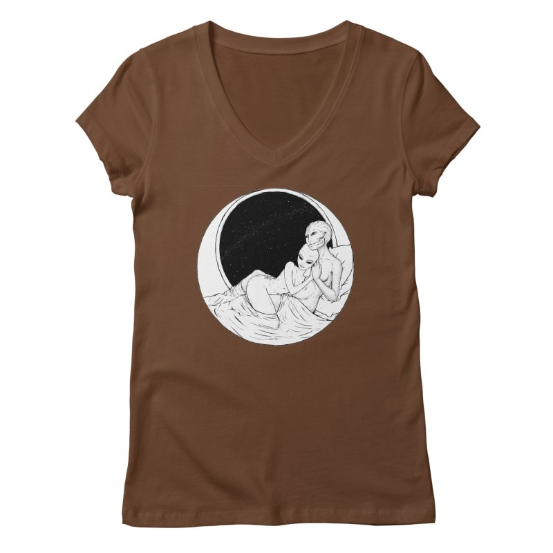 Love Beyond This World Women's V-Neck by Natalie McKean