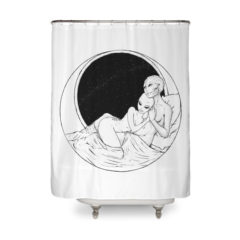Love Beyond This World Home Shower Curtain by Natalie McKean