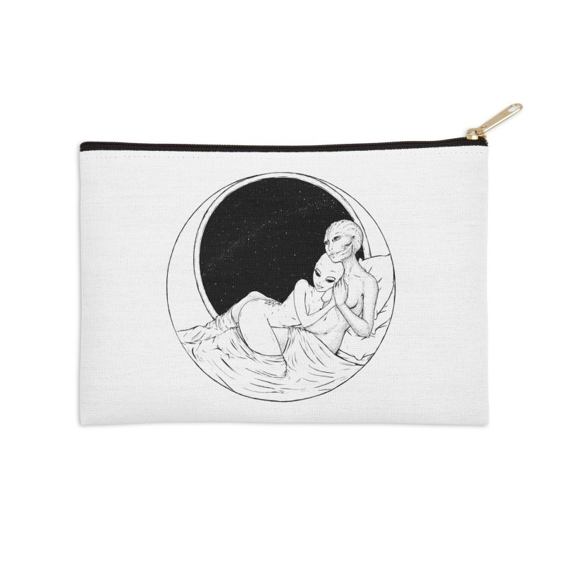 Love Beyond This World Accessories Zip Pouch by Natalie McKean