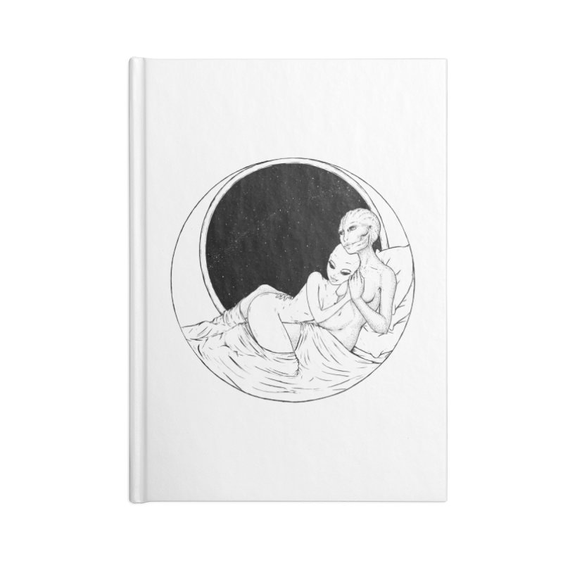 Love Beyond This World Accessories Lined Journal Notebook by Natalie McKean