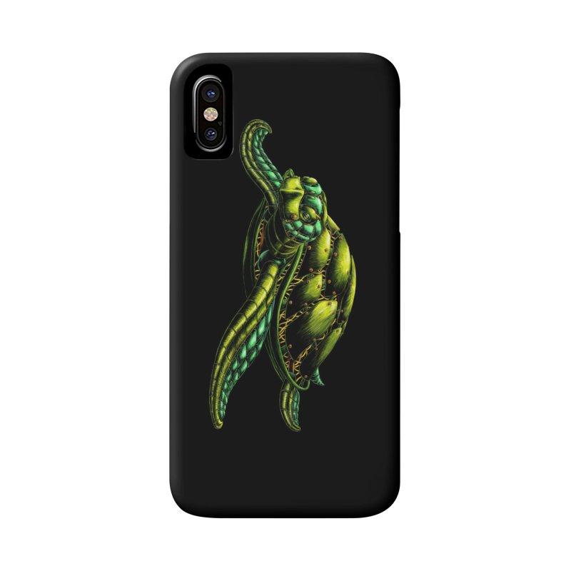 Robot Sea Turtle Accessories Phone Case by Natalie McKean