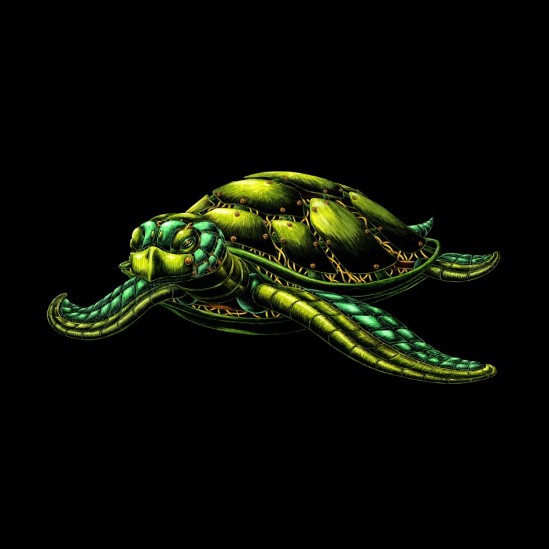 Robot Sea Turtle Women's T-Shirt by Natalie McKean