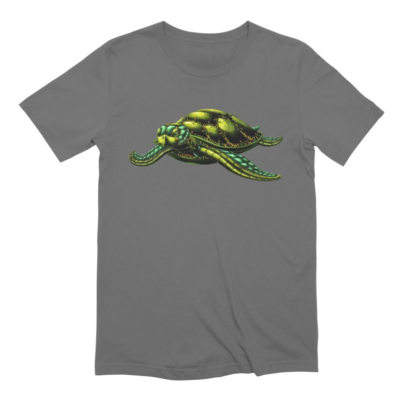 Robot Sea Turtle Men's T-Shirt by Natalie McKean