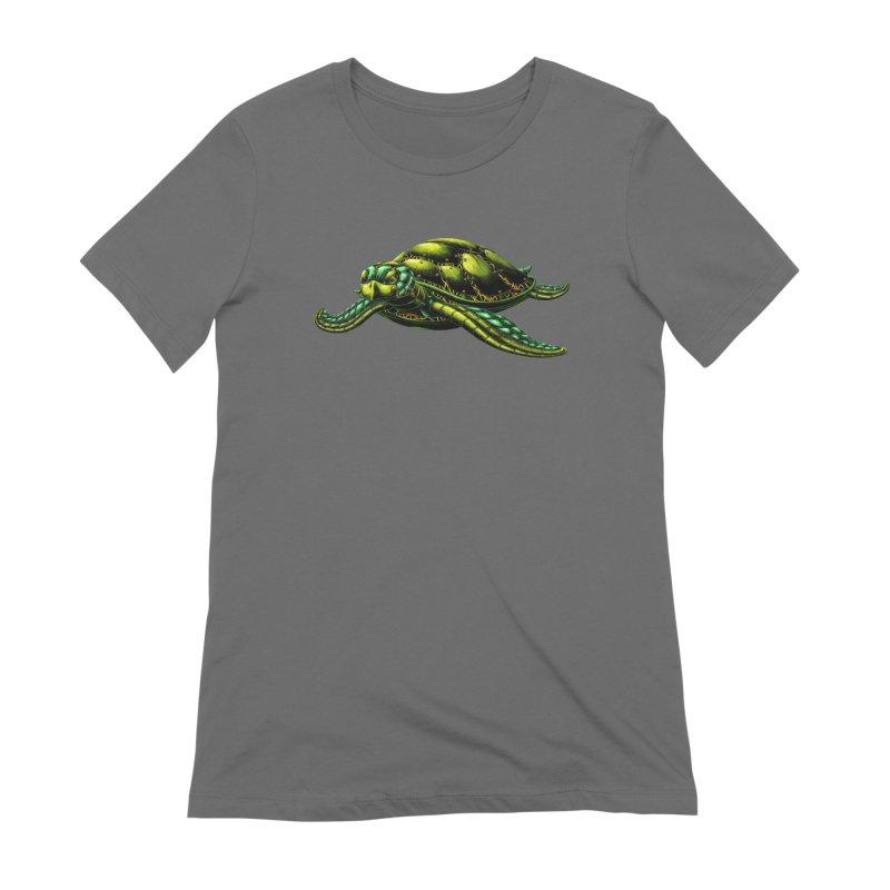 Robot Sea Turtle Women's T-Shirt by Natalie McKean