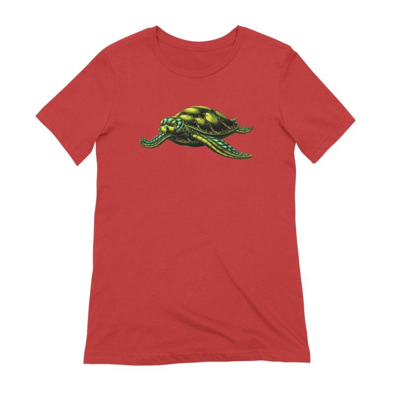 Robot Sea Turtle Women's Extra Soft T-Shirt by Natalie McKean