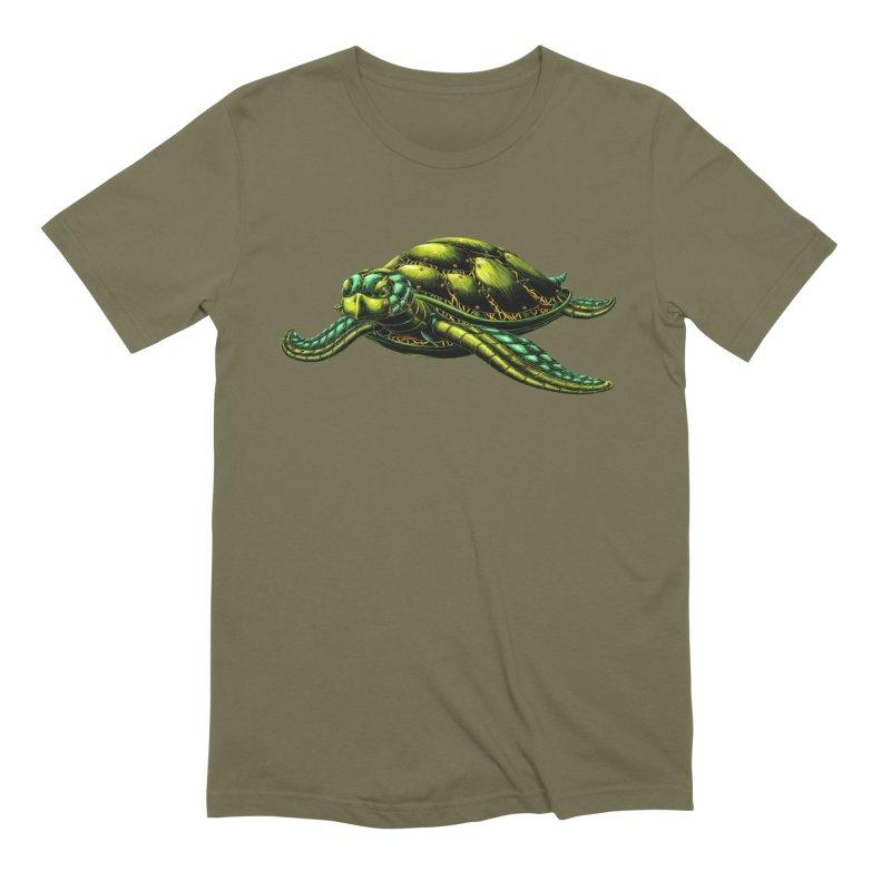 Robot Sea Turtle Men's Extra Soft T-Shirt by Natalie McKean