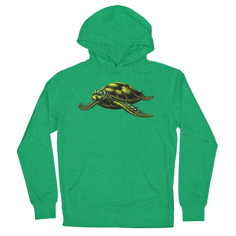 Robot Sea Turtle Women's French Terry Pullover Hoody by Natalie McKean
