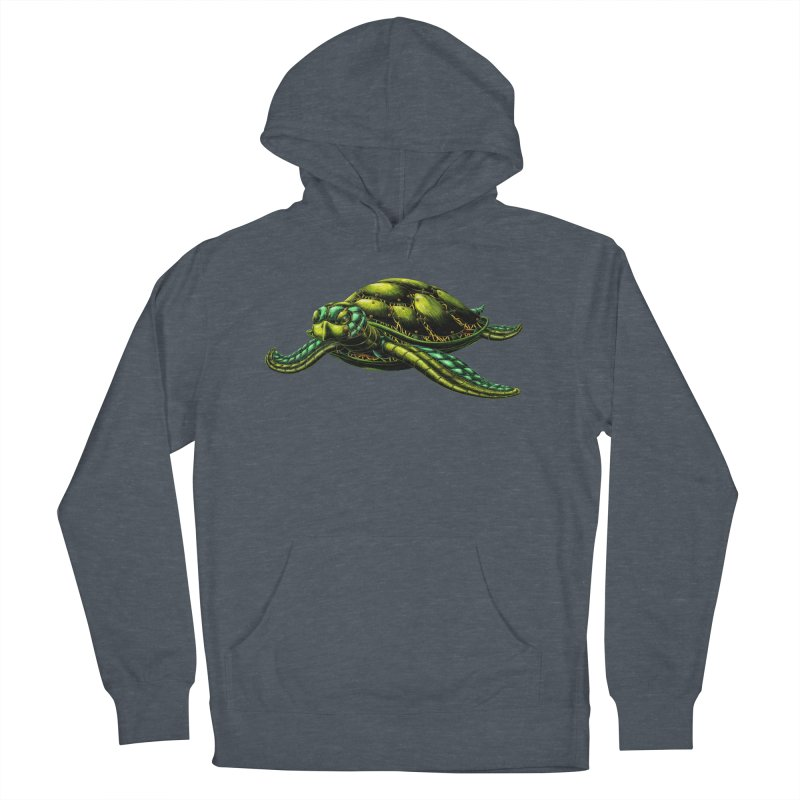 Robot Sea Turtle Men's French Terry Pullover Hoody by Natalie McKean