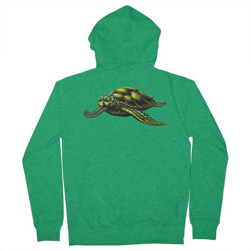 Robot Sea Turtle Women's Zip-Up Hoody by Natalie McKean