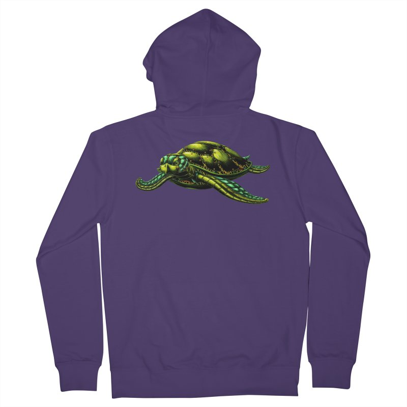 Robot Sea Turtle Women's French Terry Zip-Up Hoody by Natalie McKean