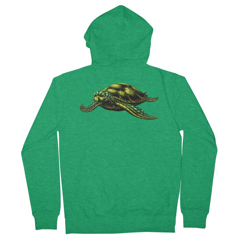 Robot Sea Turtle Men's Zip-Up Hoody by Natalie McKean