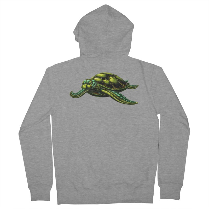 Robot Sea Turtle Men's French Terry Zip-Up Hoody by Natalie McKean