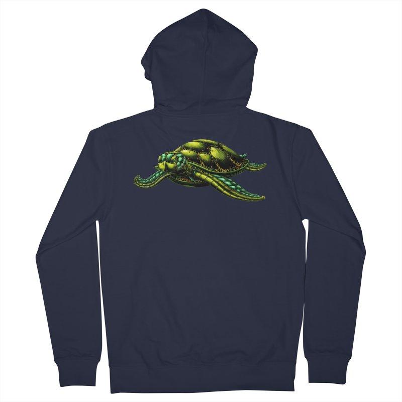 Robot Sea Turtle Men's Zip-Up Hoody by Natalie McKean