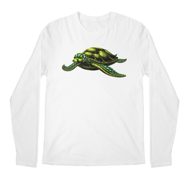Robot Sea Turtle Men's Regular Longsleeve T-Shirt by Natalie McKean