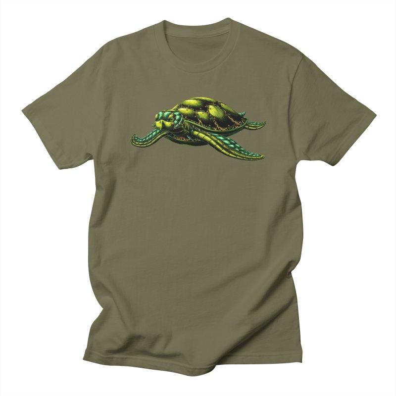 Robot Sea Turtle Women's Regular Unisex T-Shirt by Natalie McKean