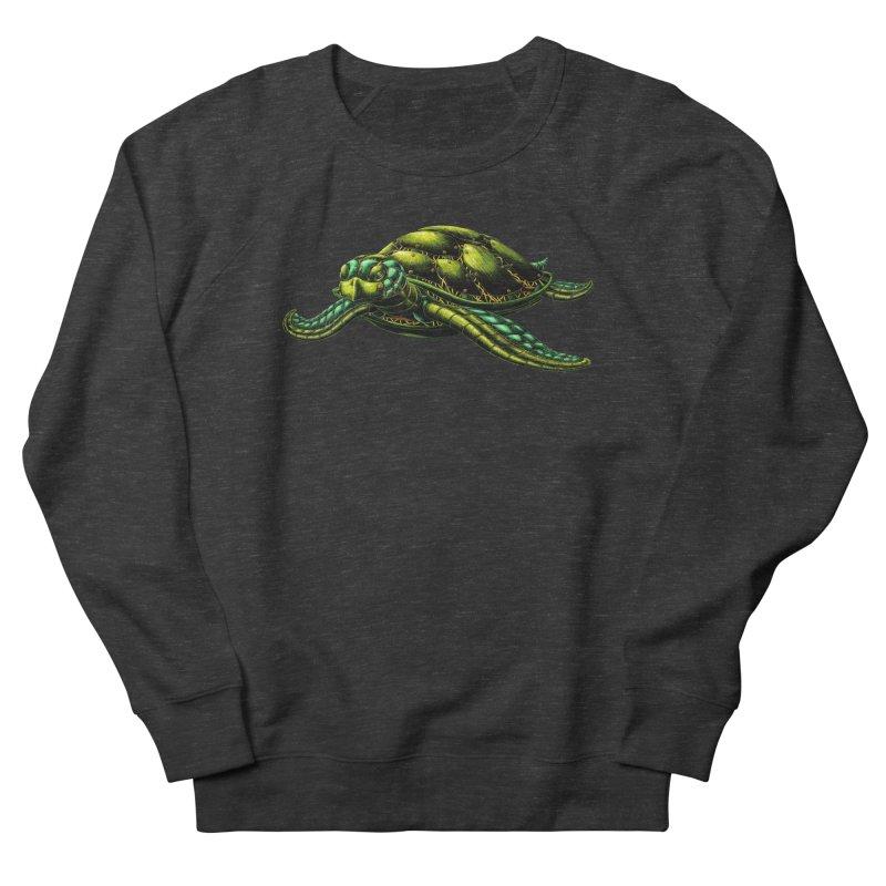 Robot Sea Turtle Women's French Terry Sweatshirt by Natalie McKean