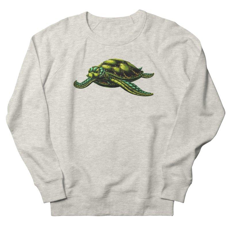 Robot Sea Turtle Men's French Terry Sweatshirt by Natalie McKean