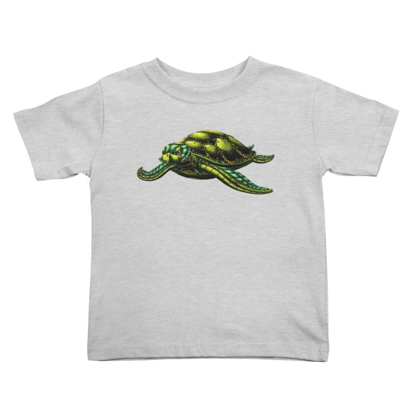 Robot Sea Turtle Kids Toddler T-Shirt by Natalie McKean