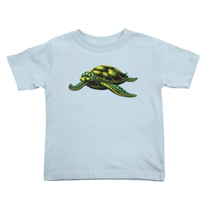 Robot Sea Turtle Kids Toddler T-Shirt by Natalie McKean