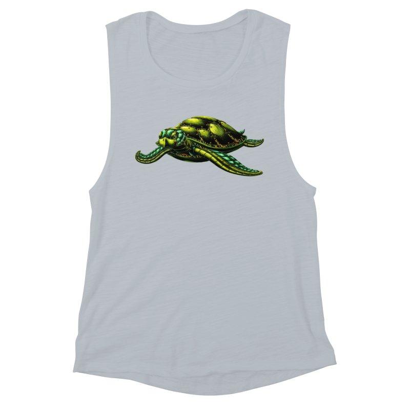 Robot Sea Turtle Women's Tank by Natalie McKean
