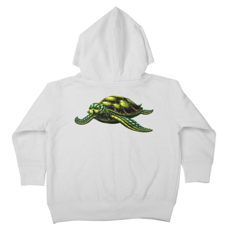 Robot Sea Turtle Kids Toddler Zip-Up Hoody by Natalie McKean