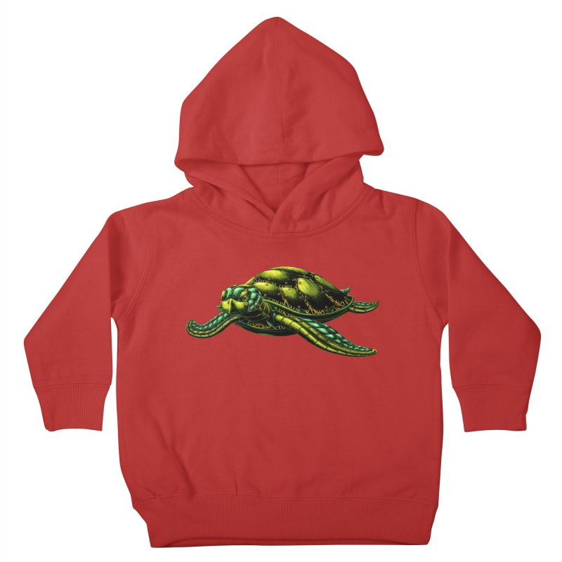 Robot Sea Turtle Kids Toddler Pullover Hoody by Natalie McKean