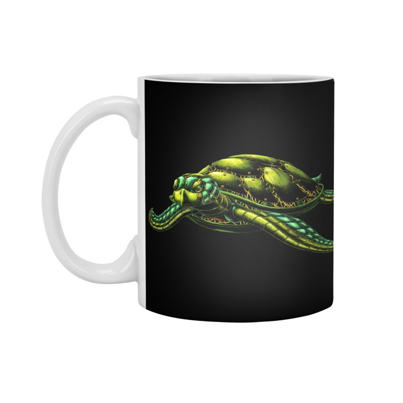 Robot Sea Turtle Accessories Standard Mug by Natalie McKean