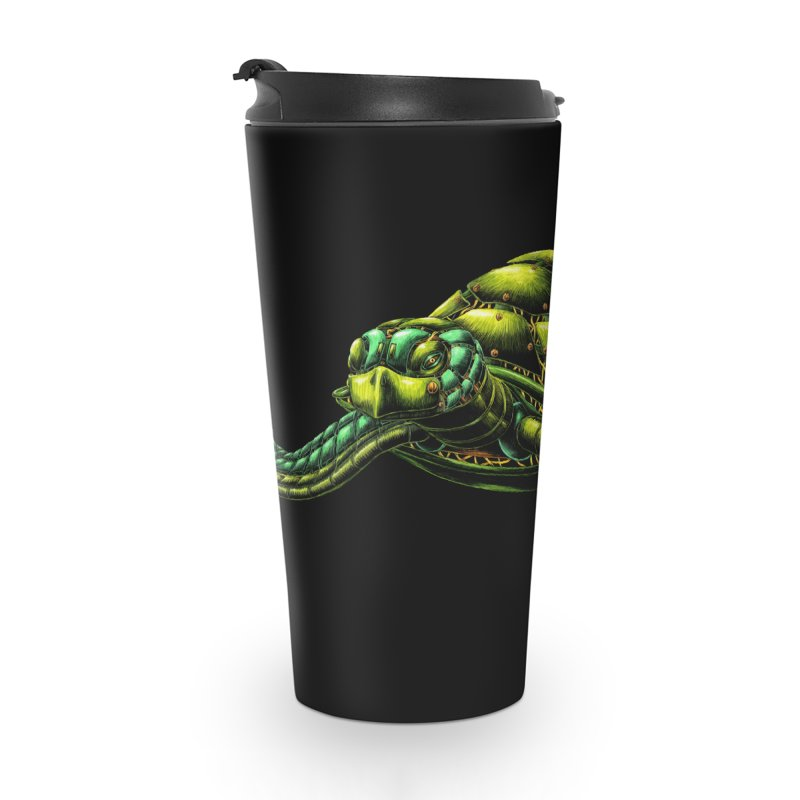 Robot Sea Turtle Accessories Travel Mug by Natalie McKean