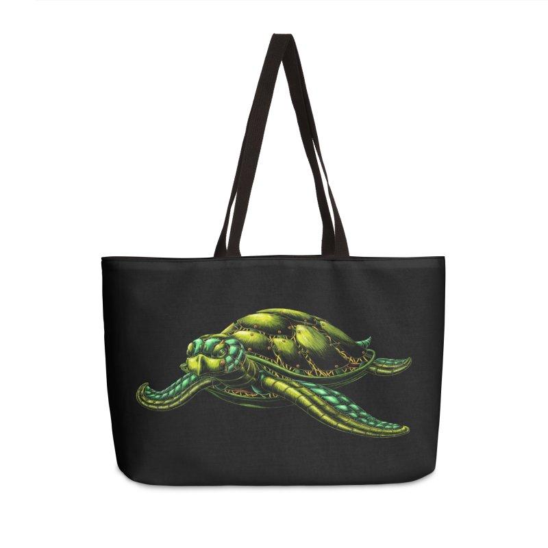 Robot Sea Turtle Accessories Bag by Natalie McKean