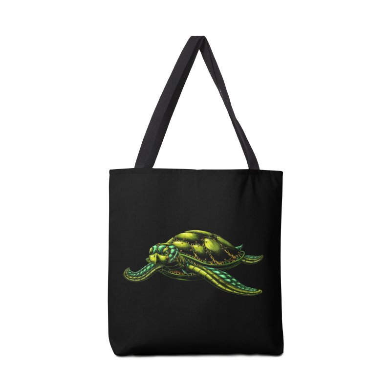 Robot Sea Turtle Accessories Bag by Natalie McKean