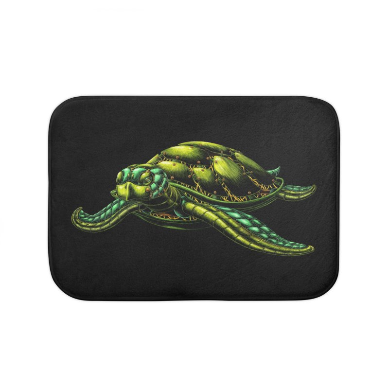 Robot Sea Turtle Home Bath Mat by Natalie McKean