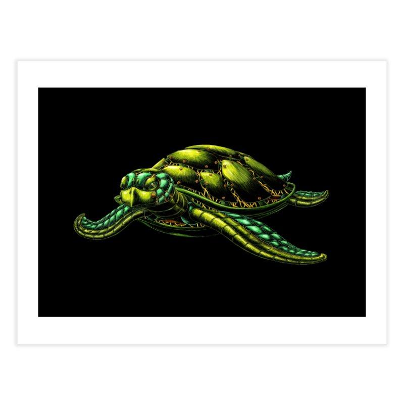 Robot Sea Turtle Home Fine Art Print by Natalie McKean