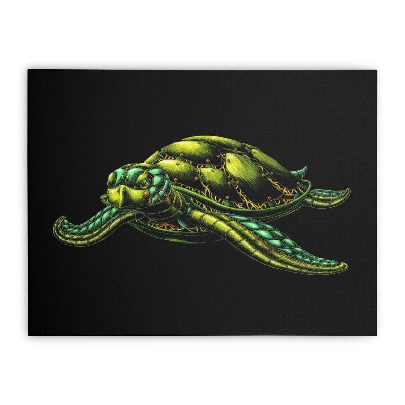Robot Sea Turtle Home Stretched Canvas by Natalie McKean