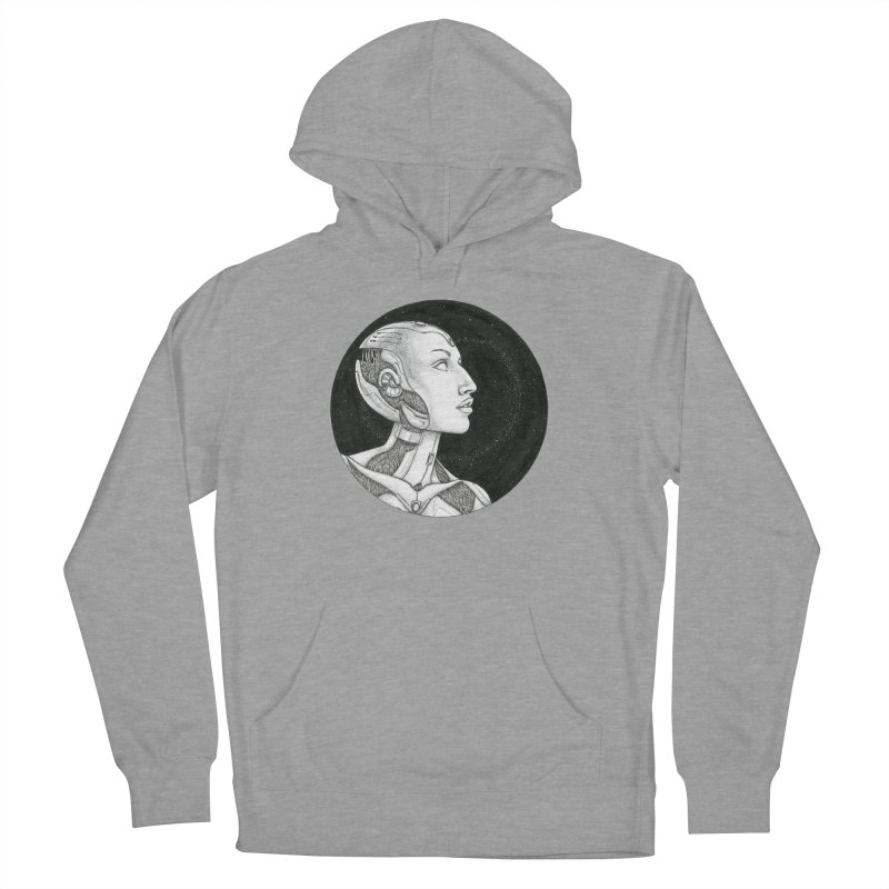 Third Eye Men's French Terry Pullover Hoody by Natalie McKean
